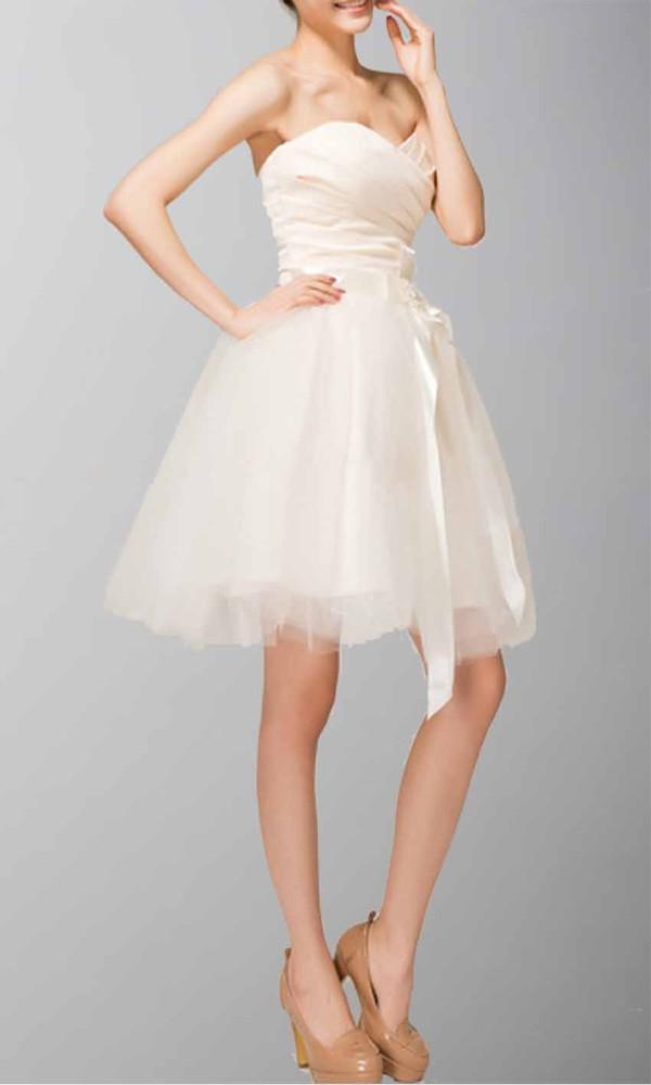 beige dress princess dress short prom gown graduation dresses homecoming dress tulle dress ruched dress sweetheart dress
