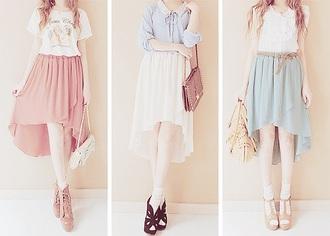 skirt red skirt blue skirt white skirt hi low skirt
