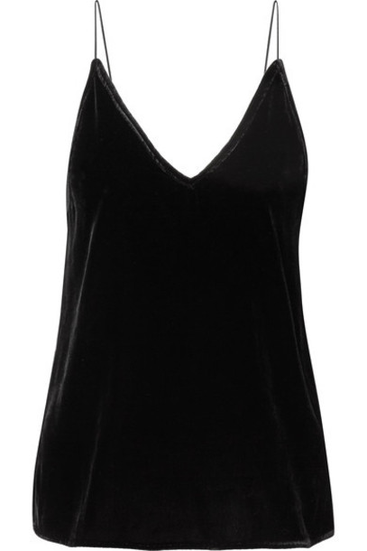 CAMI NYC camisole black velvet underwear