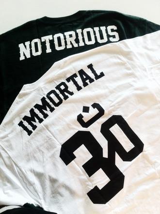 black shirt white peace top jersey boho love life thug life tupac biggie urban bohemian biggie smalls