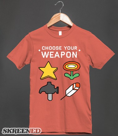Choose Your Weapon | Organic T-shirt | Skreened