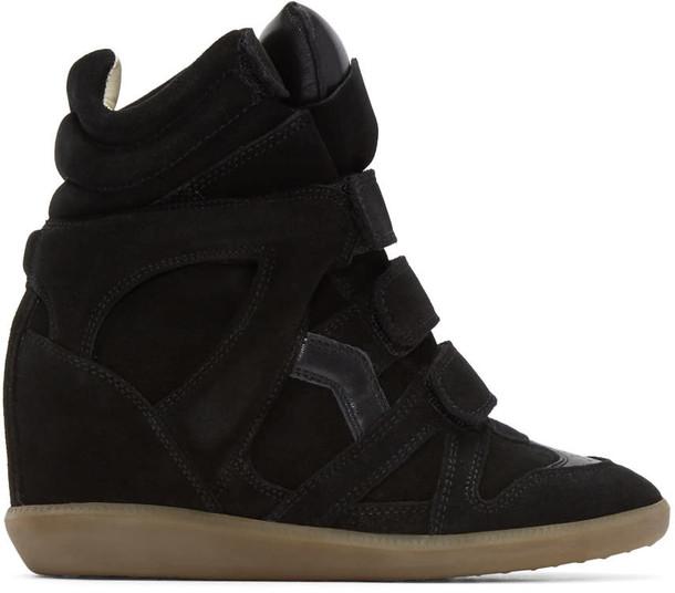 Isabel Marant sneakers suede black wedge sneakers shoes