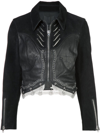 jacket cropped jacket cropped women leather black
