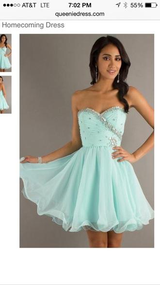 dress teal short dress