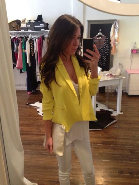jacket blazer yellow