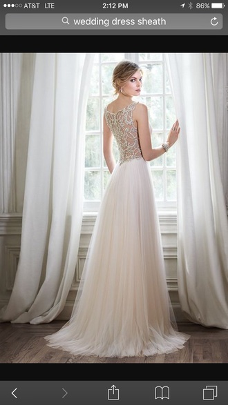 dress ivory wedding dress beaded  back