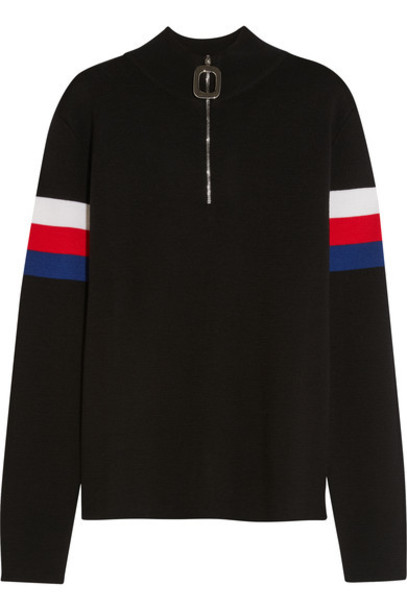 J.W.Anderson - Striped Wool Sweater - Black