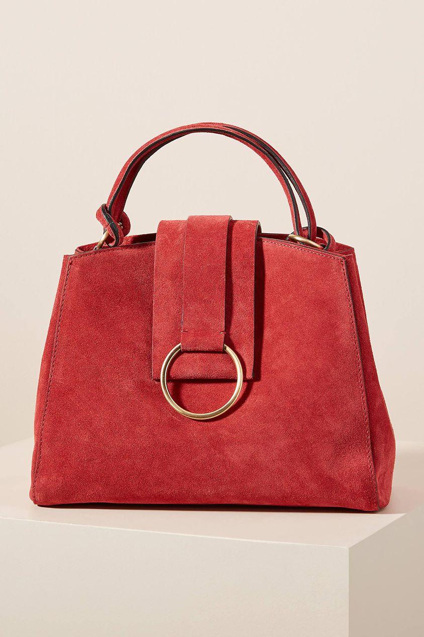 Samara Mini Tote Bag by Anthropologie in Purple