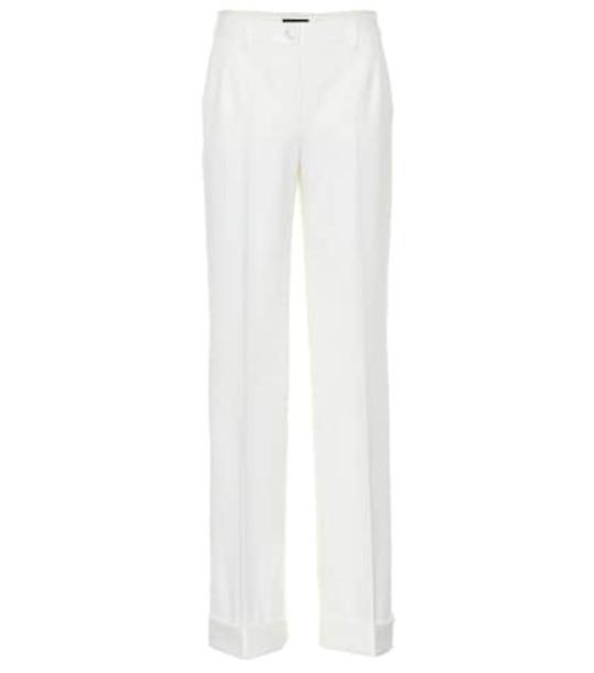 Dolce & Gabbana Wool-blend pants in white