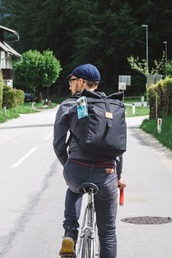 bag,black,travel,bike,velo,backpack,rucksack,black backpack,sac a dos,rolltop backpack,rolltop bag