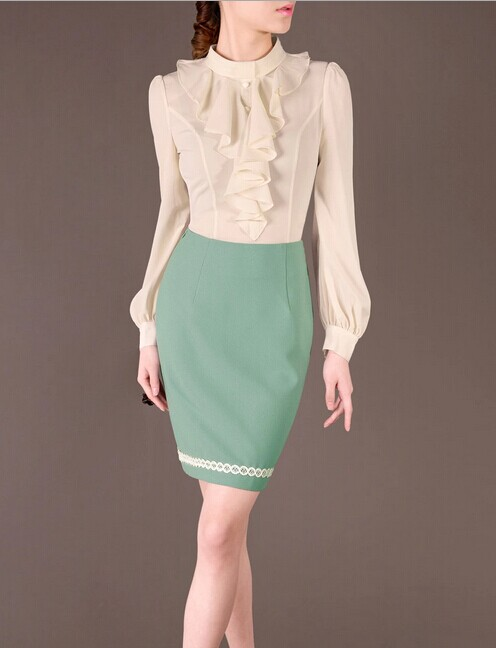 Green Pencil Elegant Noble Summer OL Women Fashion Skirt lml7099 - ott-123 - Global Online Shopping for Dresses