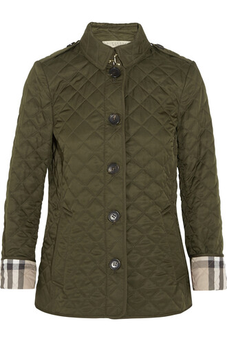jacket shell quilted green army green