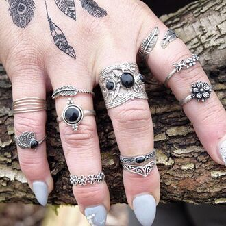 jewels cherry diva knuckle ring ring silver silver ring silver jewelry boho boho jewelry bohemian
