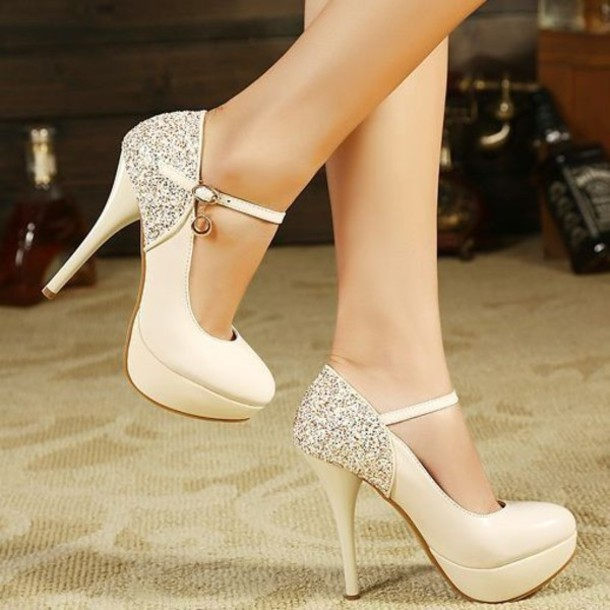 shoes glitter prom shoes high heels formal shoes