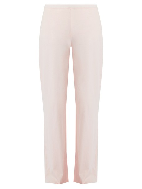Skin cotton light pink light pink pants
