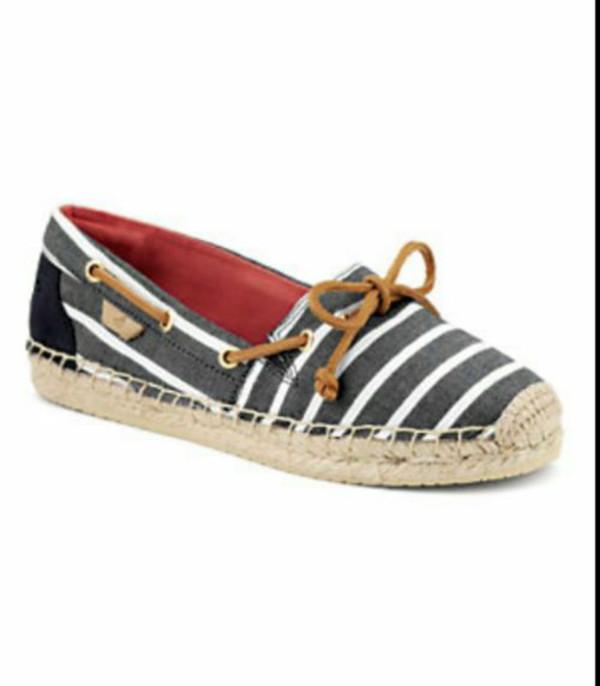 shoes stripes sperry espadrilles