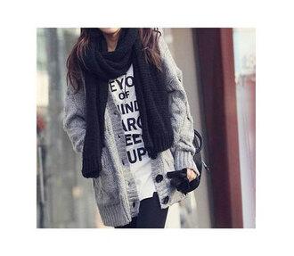sweater clothes hipster boho slouchy knitwear cardigan cute boyfriend boyfriend cardigan grey girl female top