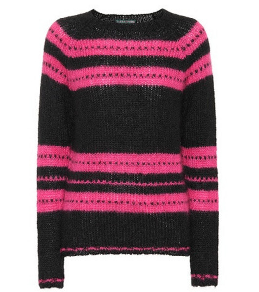 AlexaChung Mohair and wool-blend sweater in black