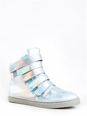 shoes,high top sneakers,hologram sneakers,holographic,sneakers