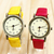 Korean Fashion Unisex Wrist Watch PU Leather Band - $9.42