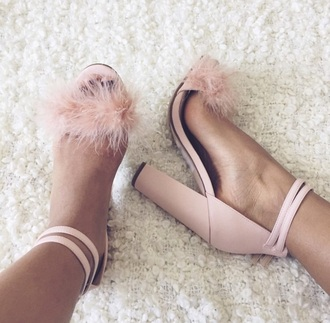 shoes heels pink high heels pumps sandals high heel sandals baby pink high heels pastel pink fluffy pink heel