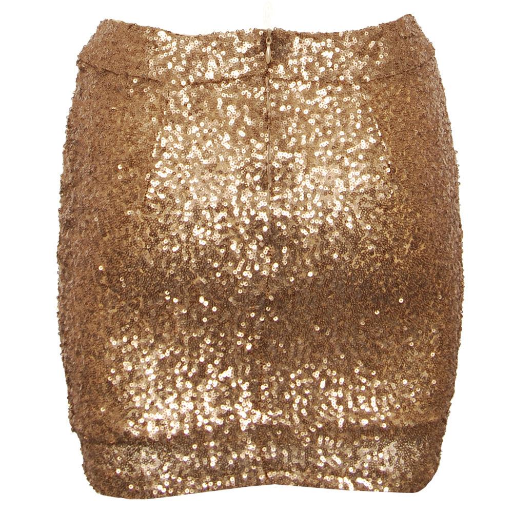 & Bows Virginia Gold Sequin Skirt