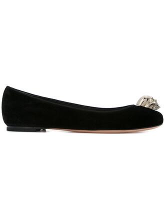 skull ballet women embellished flats ballet flats cotton black shoes