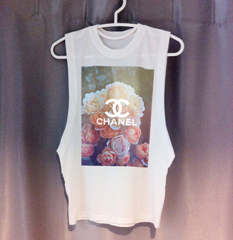 t-shirt chanel t-shirt muscle tee tank top