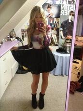 blouse,galaxy print,bodysuit,skirt