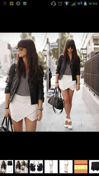 shorts white skorts zara