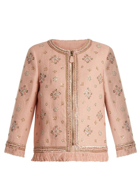 jacket embellished light pink light pink