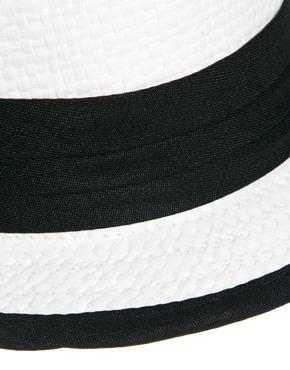 Liquorish | Liquorish Trilby Hat With Black Band Detail at ASOS