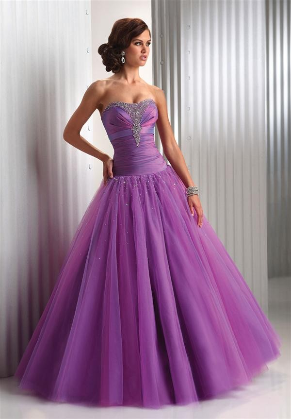 dress purple prom dress