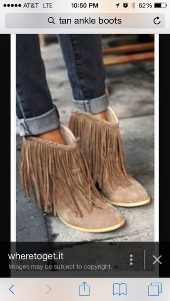 shoes tan fringe ankle boots fringe shoes