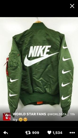 jacket nike green