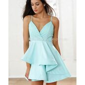 dress,xenia boutique,skater skirt,mini dress,mint,mint dress,fashion