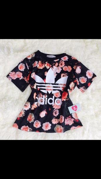 shirt adidas floral top
