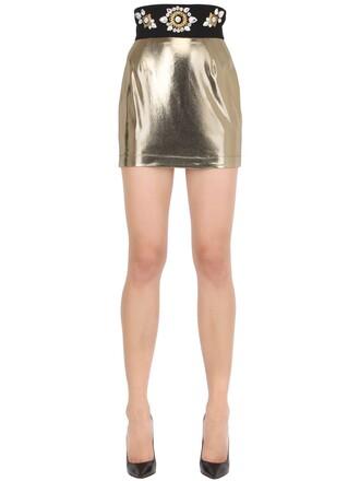 skirt mini skirt mini embellished gold