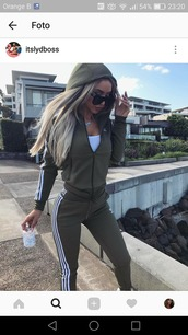 jacket,adidas,jumpsuit,hunter green adidas,pants,khaki,adidas originals,ribbed,tracksuit,green