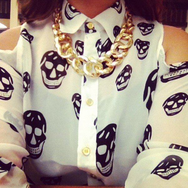 jewels gold chain blouse