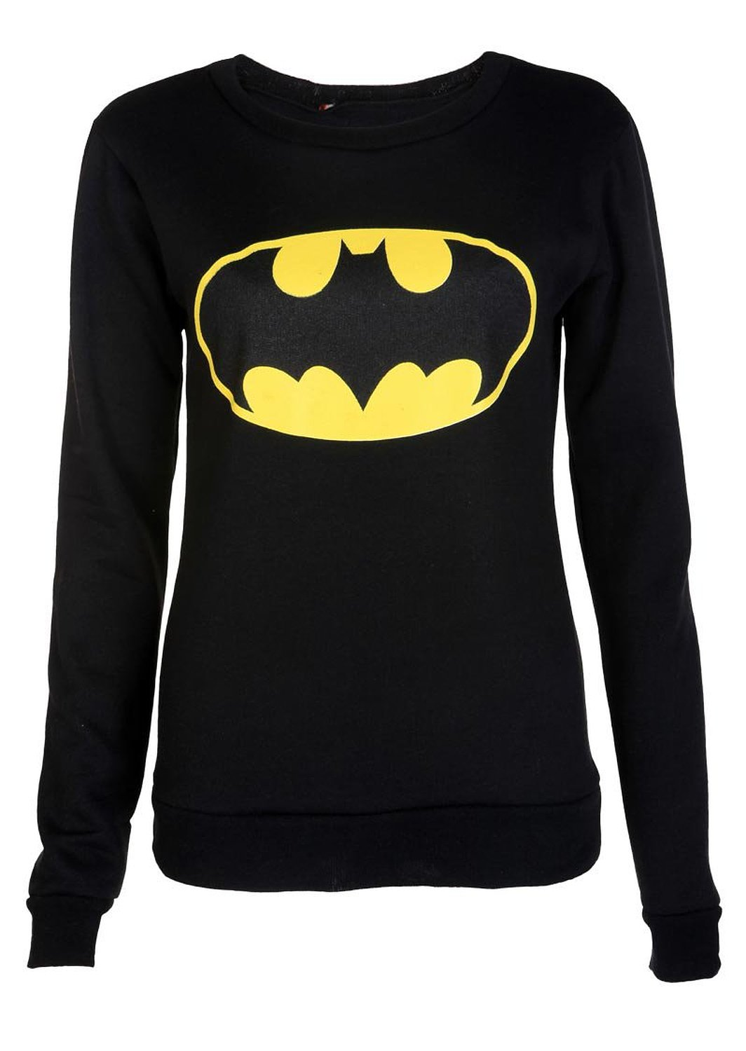 Crazy girls women's pvc long sleeve mickey mouse batman print sweatshirt at amazon women's clothing store: pullover sweaters