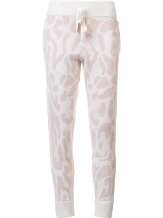 sweatpants women print purple pink leopard print pants