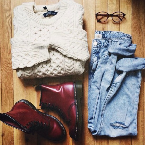 sweater weheartit girl shoes jeans