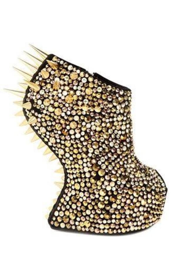 shoes spike diamanté boots high heels