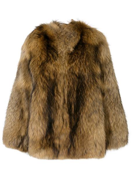 Numerootto coat fur women silk