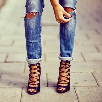 shoes black heels sandals zara laceup