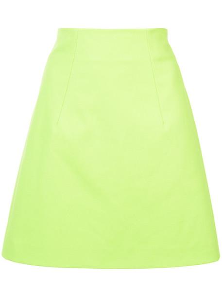 DELPOZO skirt women cotton green