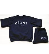 sweater,celine,celine paris shirt,celine style sweater,sweatshirt,black sweatpants