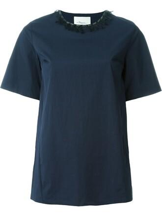 top embellished blue