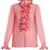 Ruffle-trimmed sheer silk-georgette blouse